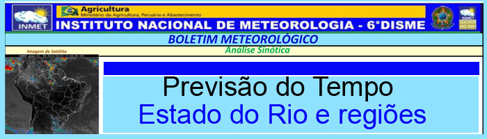Aviso Meteorológico Especial INMET para Teresópolis e estado do RJ