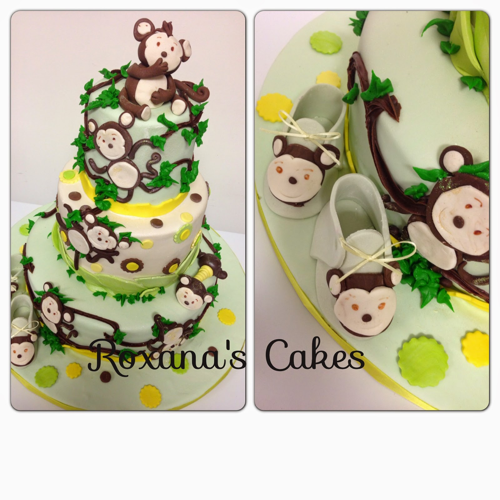 baking with roxana 39 s cakes baby shower cakes monkey theme