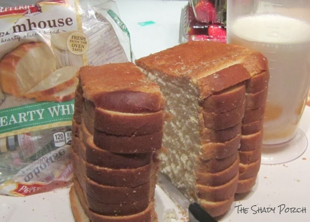 Slow Cooker French Toast - ingredients - bread eggs, milk, pecans