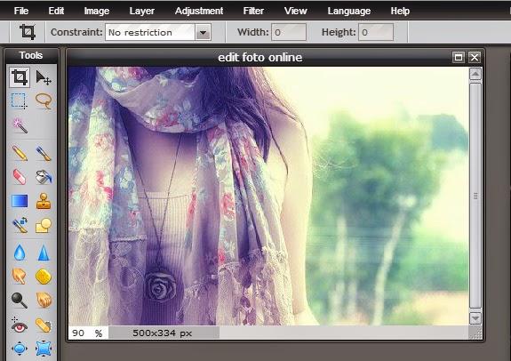 Tutorial edit foto online