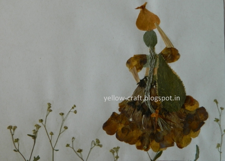 Pressed Flower Art - Village Girl