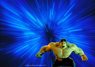 The Incredible Hulk Desktop Wallpapers Raging Fury in Blue Vortex background