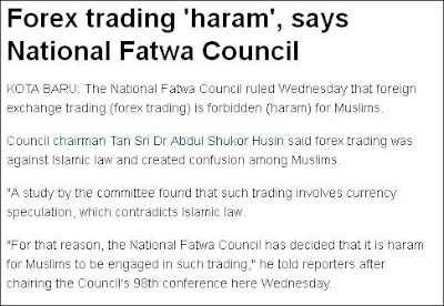 FOREX  Haram Menurut Majlis Fatwa Kebangsaan
