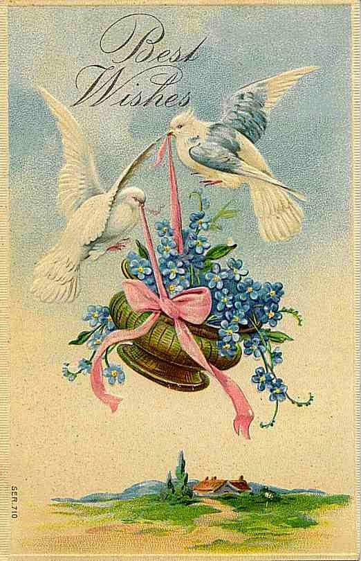 Carte postale ancienne meilleurs voeux