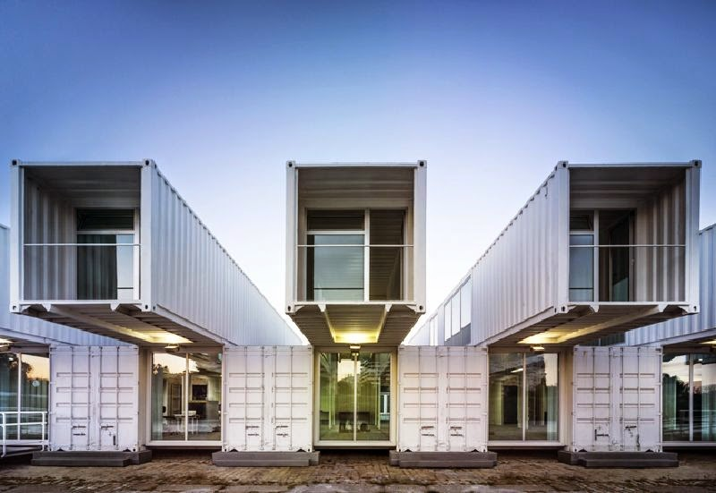 Casas contenedores terminal mar tima hecha con - Casa hecha con contenedores ...
