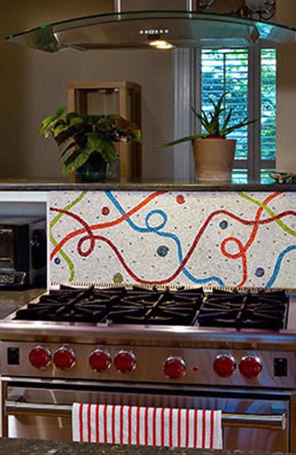 kitchen mosaic splashback the kitchen design