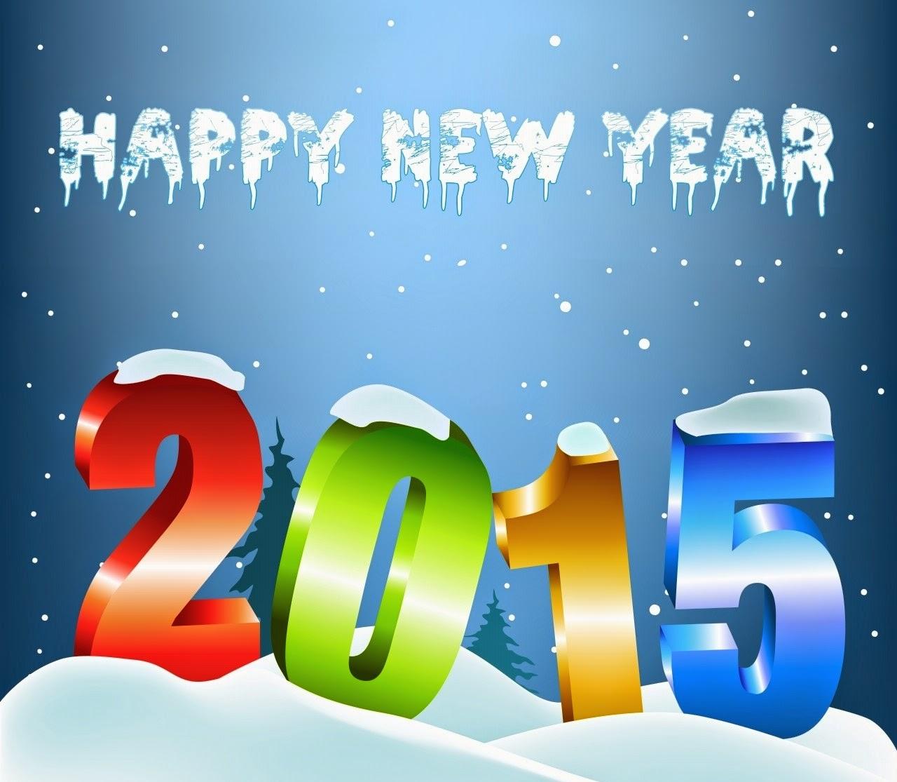 Happy New Year 2015 Ice