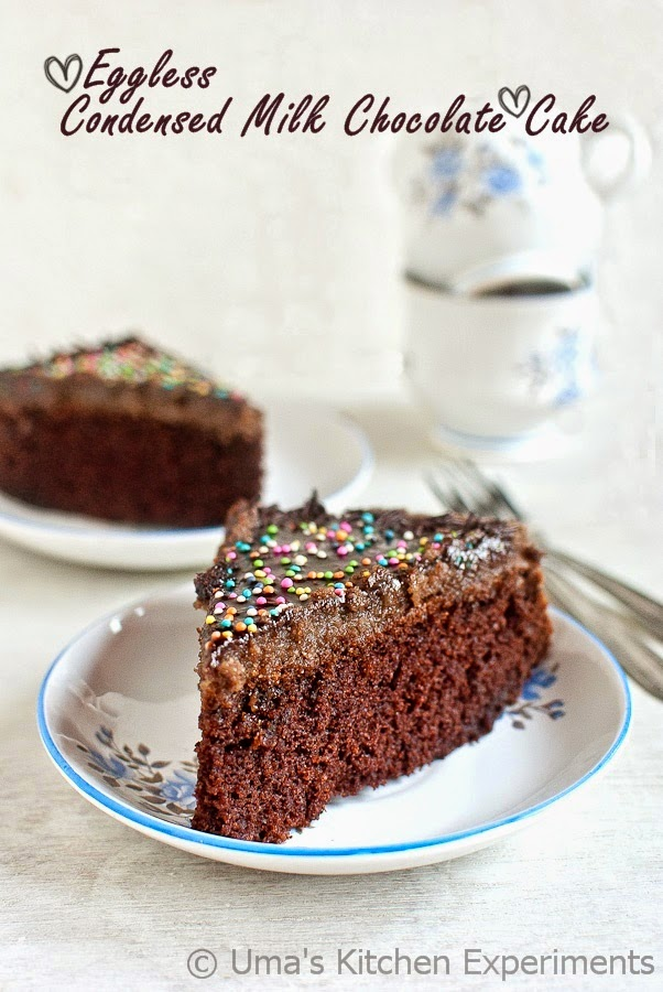 Egg free chocolate cake condensed milk