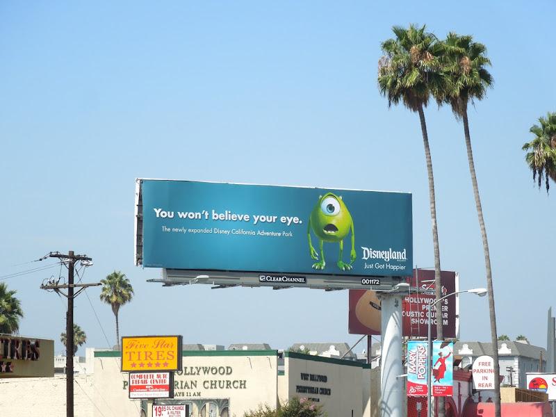 Monsters Inc Mike Disneyland billboard
