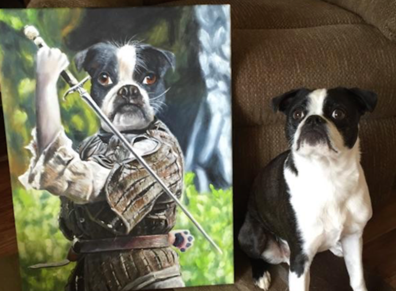Game Of Laughs Artist Turns Game Of Thrones Characters Into - Game of thrones pet paintings