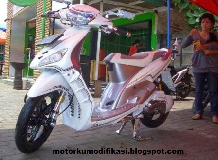 Modifikasi Motor Yamaha Mio Warna Hijau