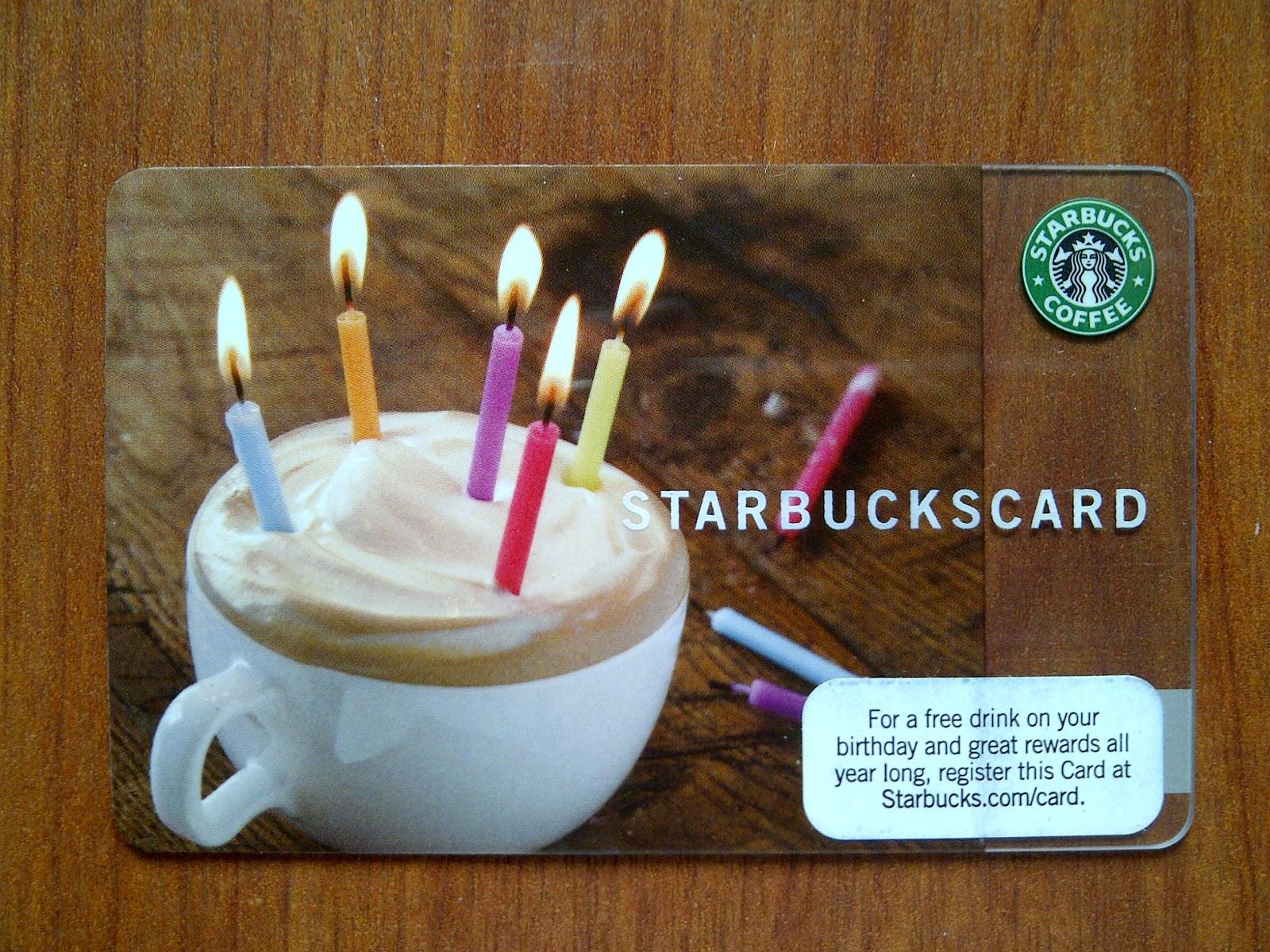 A Cup A Day Starbucks Card Happy Birthday I