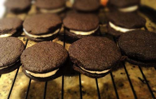 Homemade Oreo Cookies. Be sure to have milk.