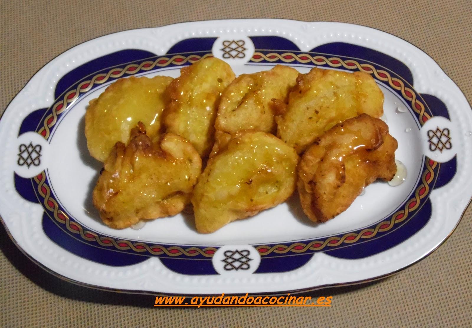 Ayudando a Cocinar.: Buñuelos De Manzana y Miel