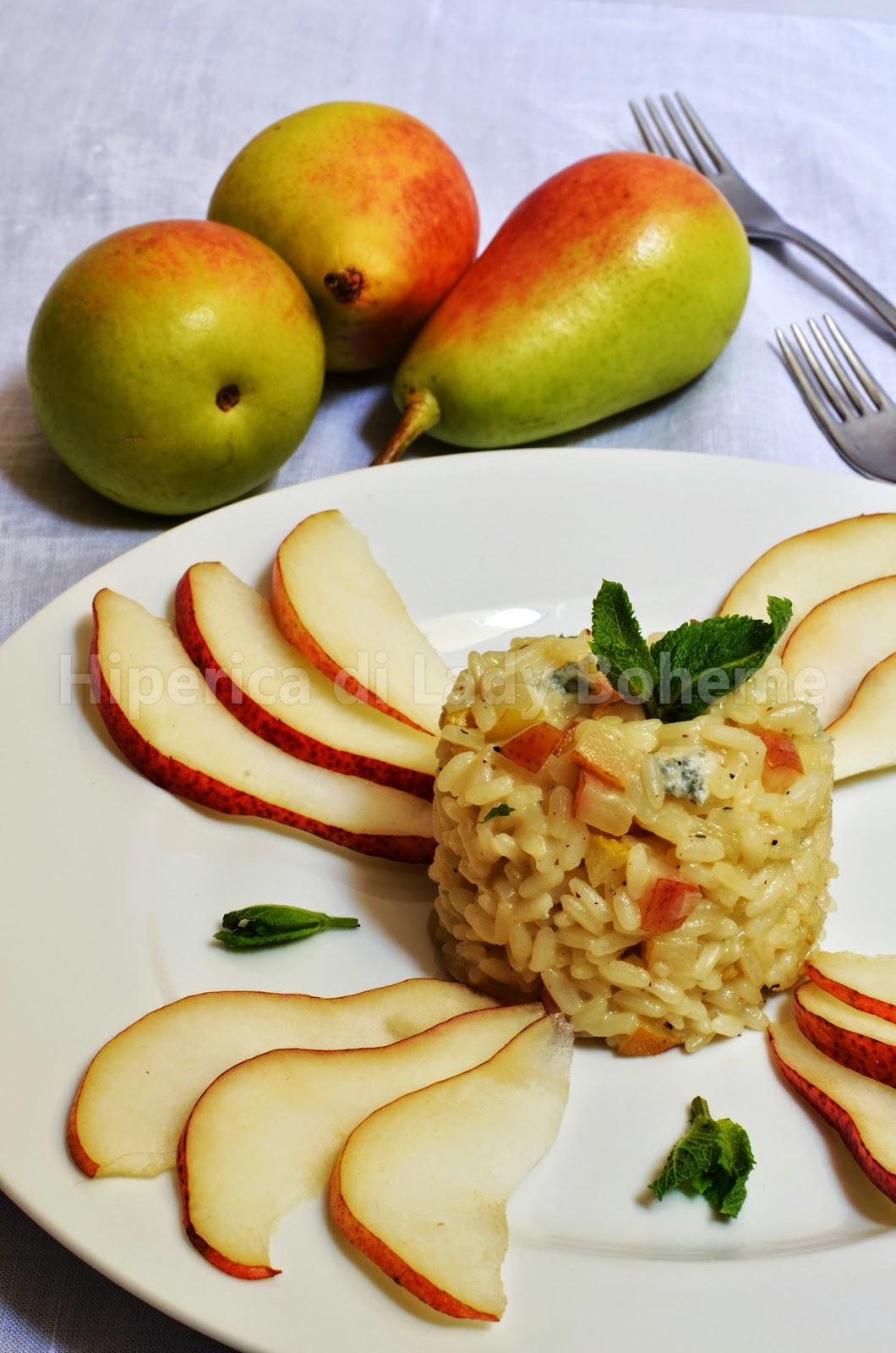 ricetta risotto alle pere e gorgonzola