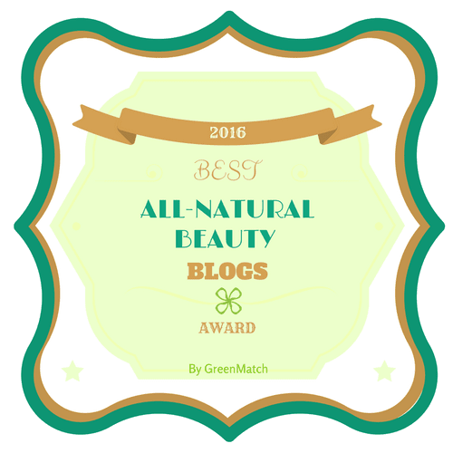 Best All Natural Beauty Blog Award 2016