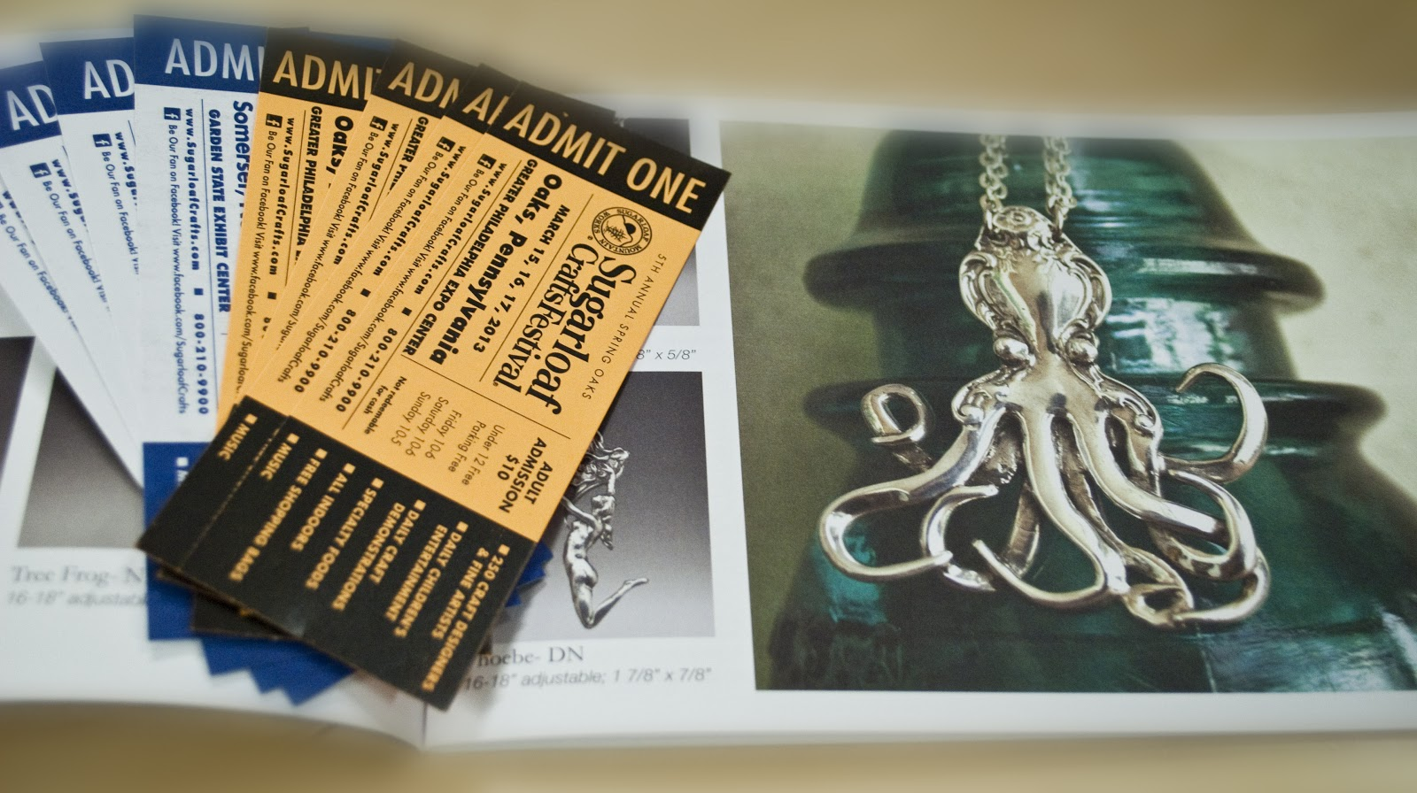 Silver spoon jewelry free show tickets for Sugarloaf craft festival nj