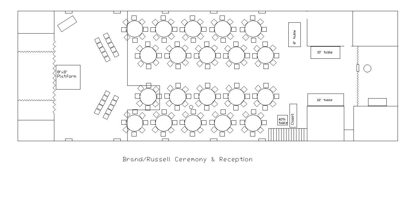 Floor Plan For Wedding Reception