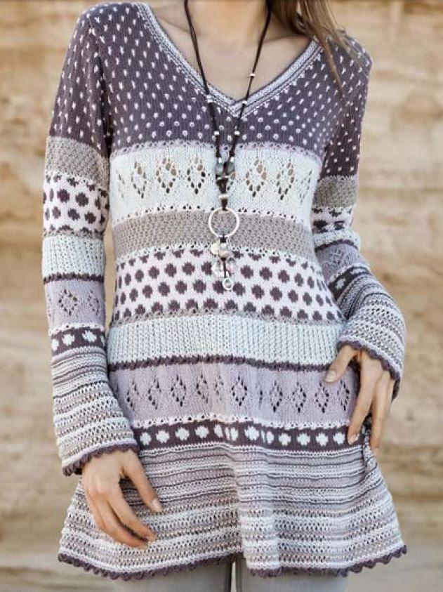 inspirasjon til sommer strikk - tunika