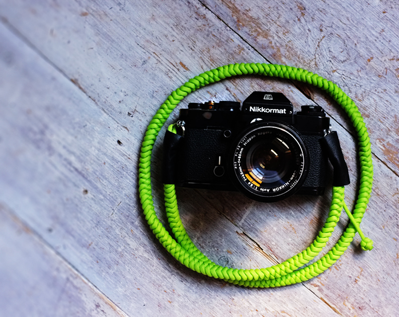 Dayglo Lime Green Camera Strap by Tim Irving
