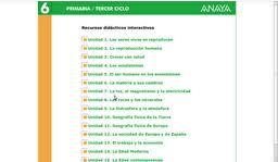 RECURSOS INTERACTIVOS 6º ANAYA