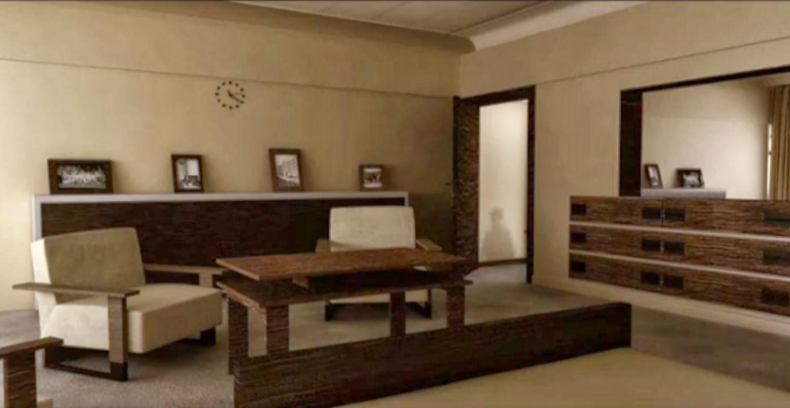 le blog des amis de la villa cavrois la chambre des parents. Black Bedroom Furniture Sets. Home Design Ideas