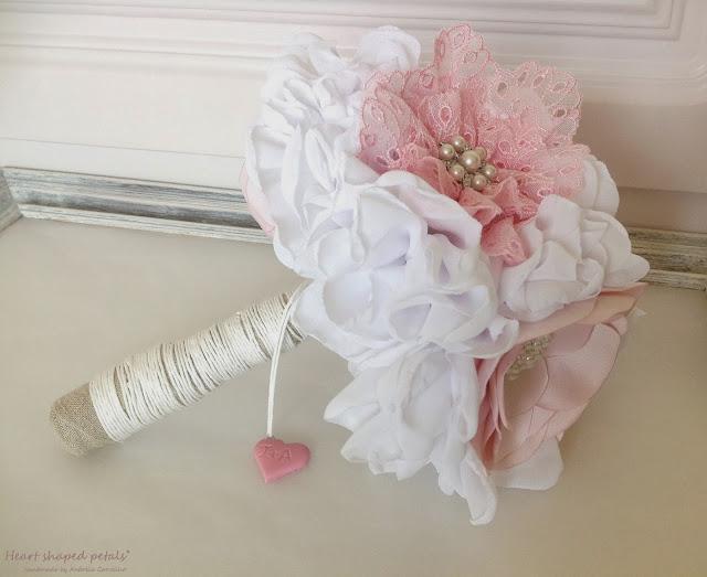 Bridal bouquet shabby chic wedding