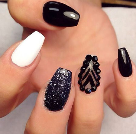 Black Acrylic Nail Designs Trends 2015 - 2016 12
