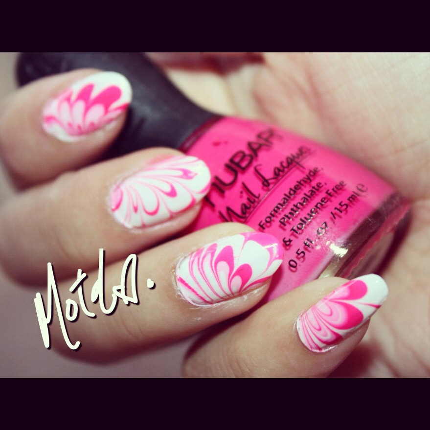 MOTD - Makeup of the Day: Water Marble Nail Designs Tutorial.