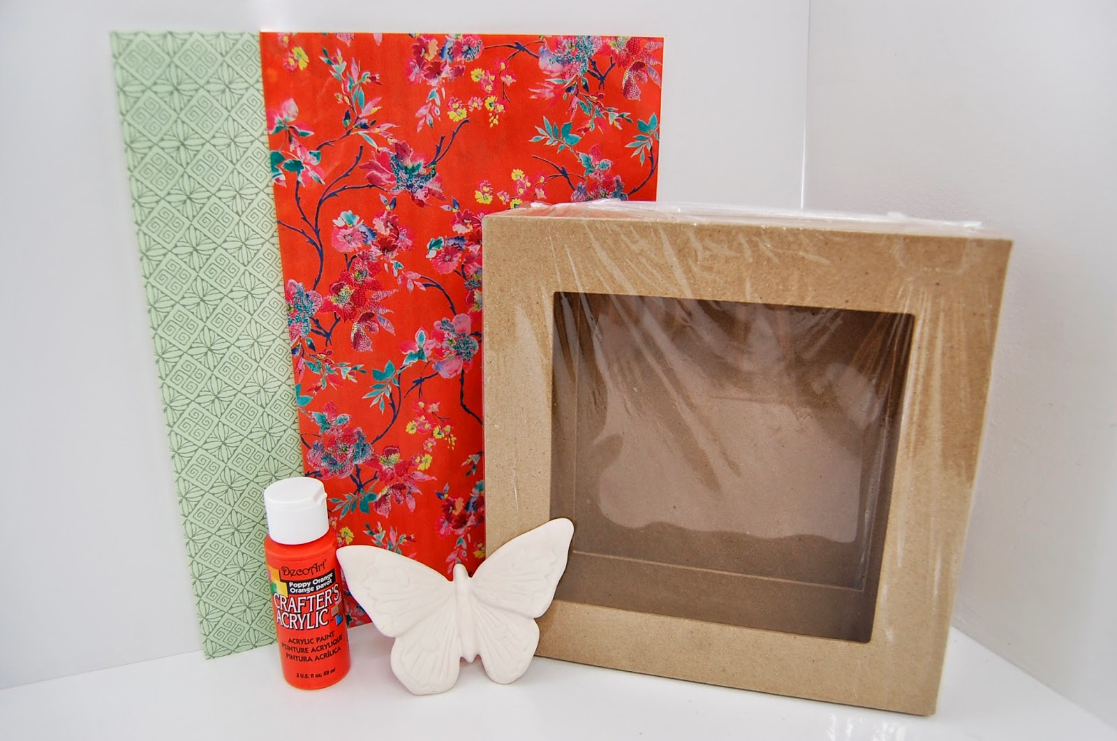3D Box Frame Decoupage/Decopatch Makeover Wall Art Idea | Decopatch ...