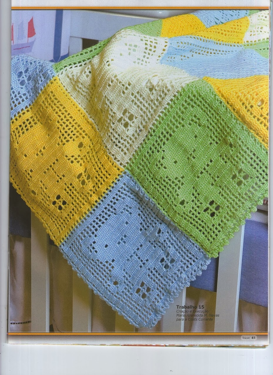 Вязание крючок одеяло для детей