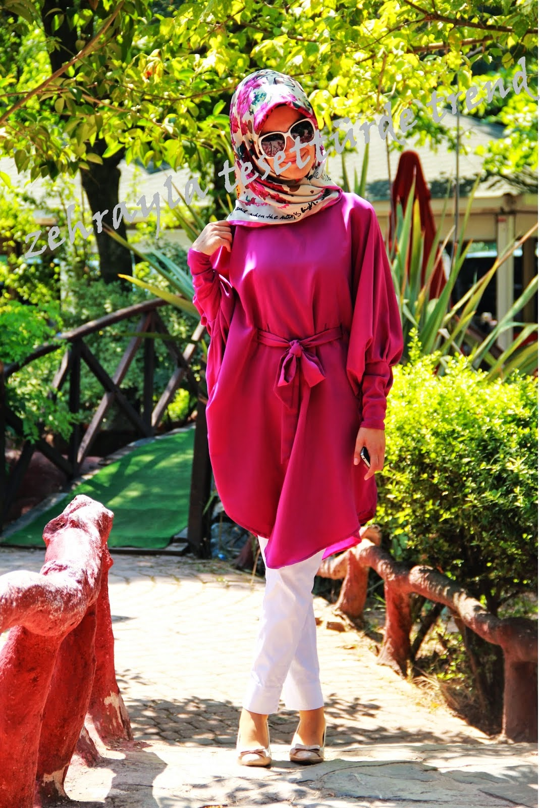 Hijab-tunique-rose-2015-2014