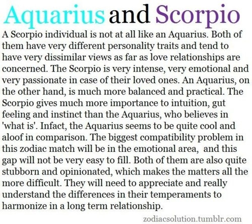 Scorpio man and aquarius woman in love