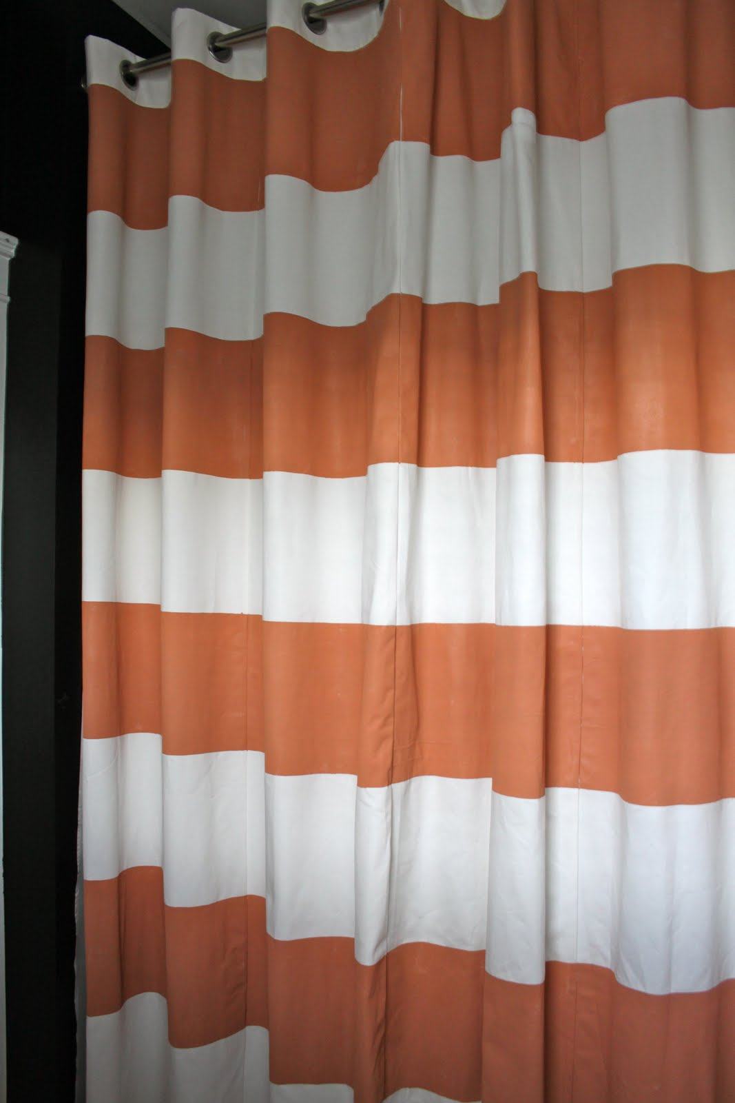 Dwellings By DeVore: Striped Shower Curtain DIY style
