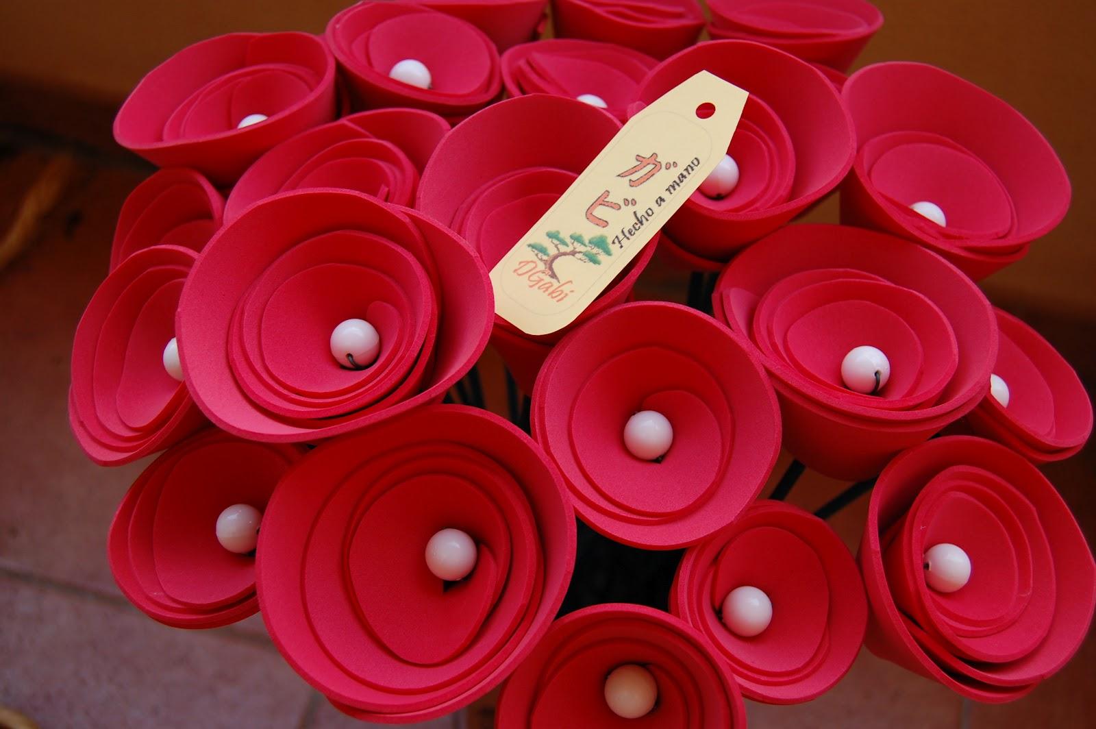 Ramo de flores con goma eva imagui - Flor de goma eva ...