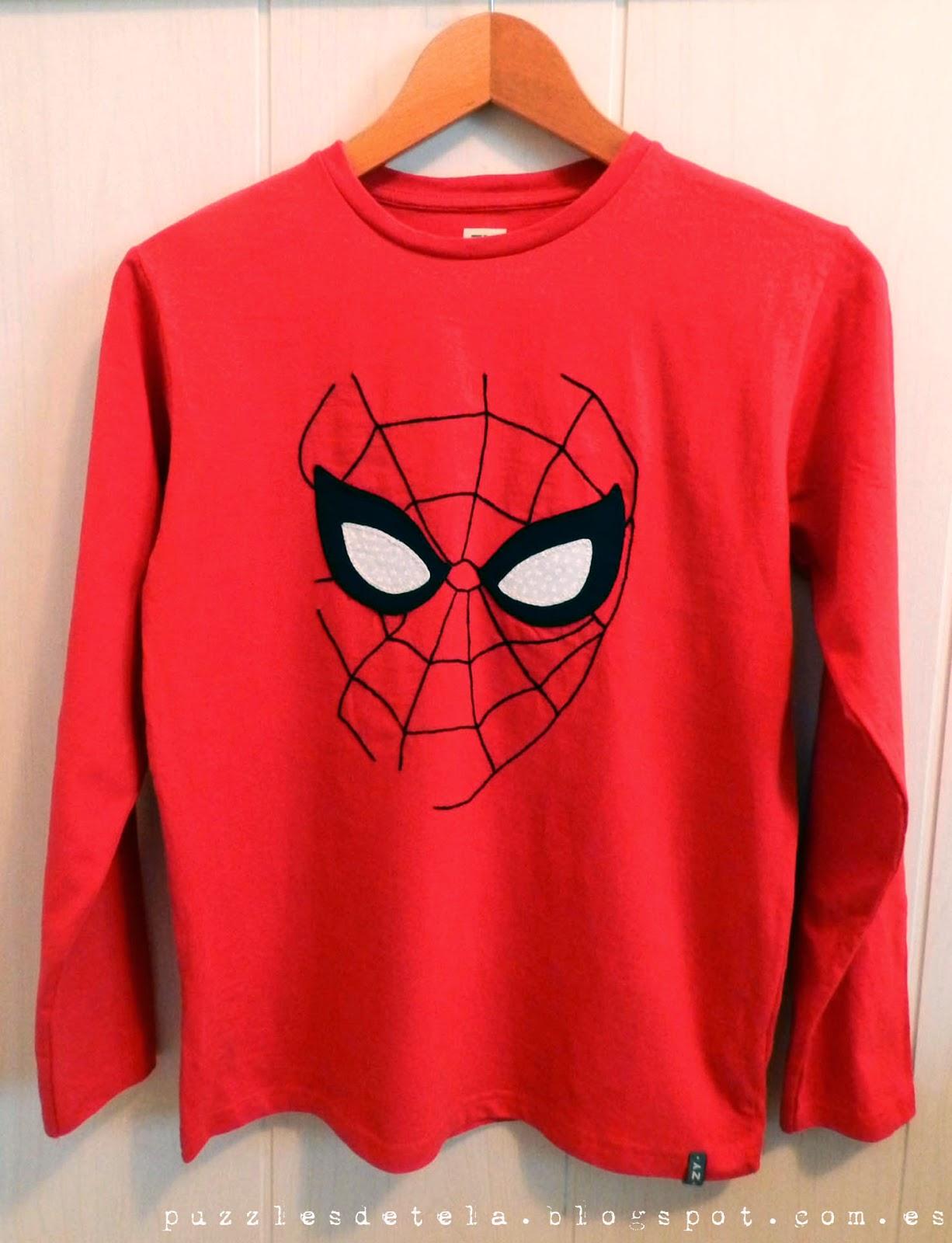 Salón del cómic, Salón del cómic Zaragoza, patchwork, Spiderman patchwork, camisetas patchwork, camisetas niño, ropa infantil, camiseta Spiderman, Spíderman, Camiseta Spiderman patchwork