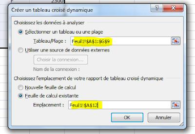 Excel-TCD-Creer tableau croise