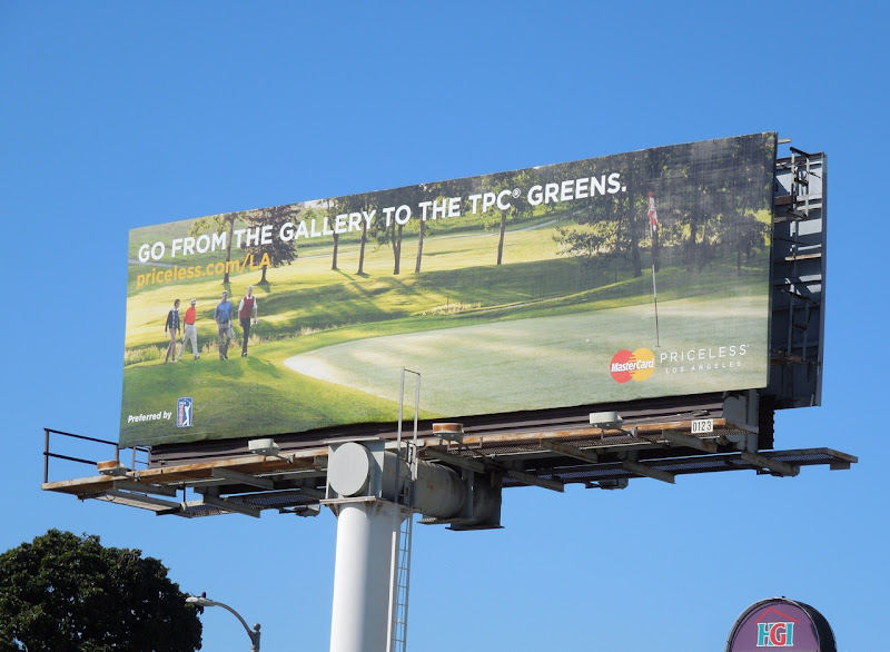 gallery to greens Mastercard Priceless billboard