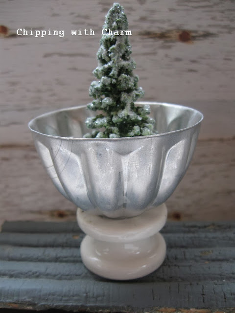 Chipping with Charm:  mini molds and insulator votive holder...http://www.chippingwithcharm.blogspot.com/