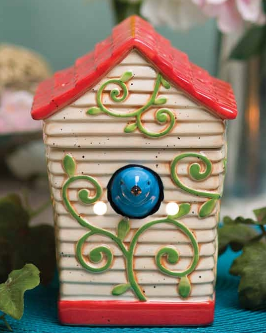 Cherry Blossom House Houses a Cherry Bluebird