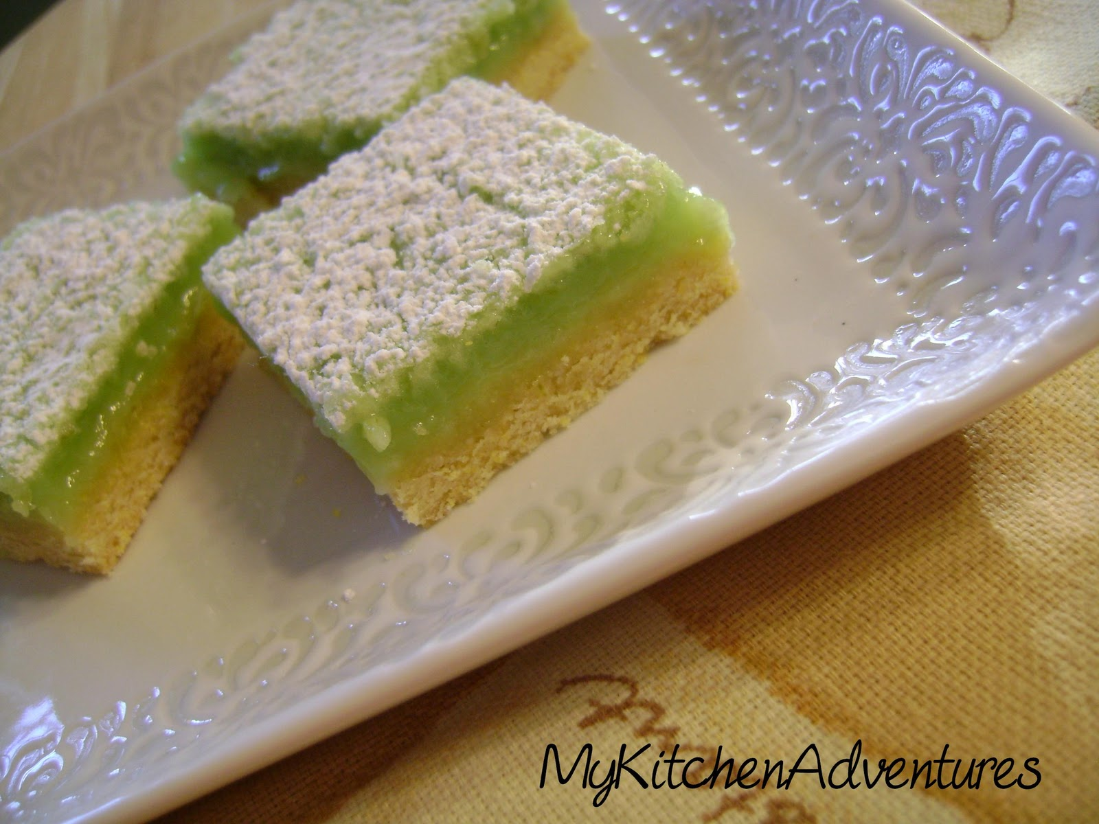 Key West Lime Bars adapted from Chocolate and the Art of Lowfat ...