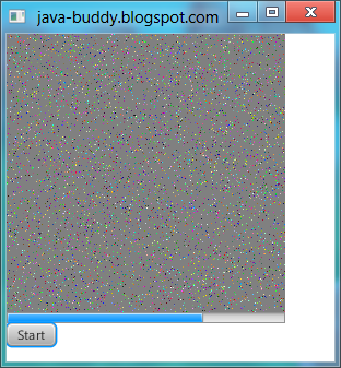 Implement javafx.concurrent.Task to draw random pixel on WritableImage