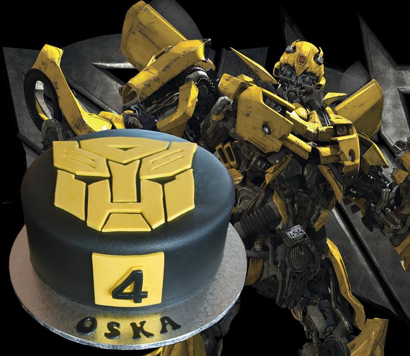 Bumblebee Edible Cake Image