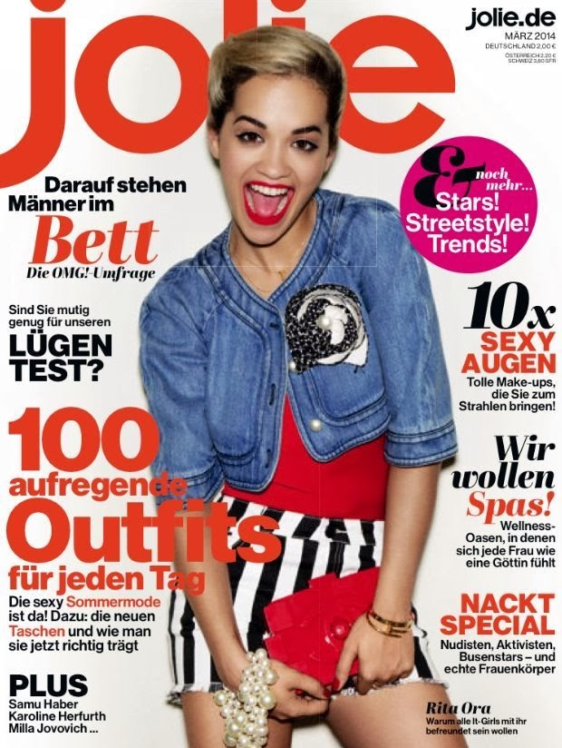 Rita Ora Photos from Jolie Germany Magazine Cover March 2014 HQ Scans