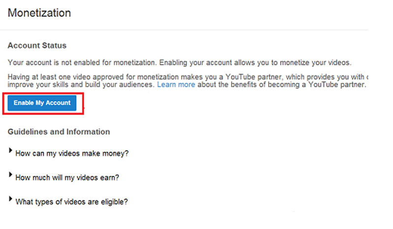 Monetization Google AdSense Youtube