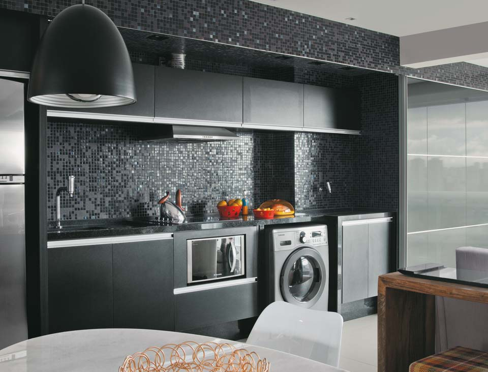 Baños Modernos Decorados Con Venecitas:Blog Luz & Design: Apartamento integrado  Cozinha oculta