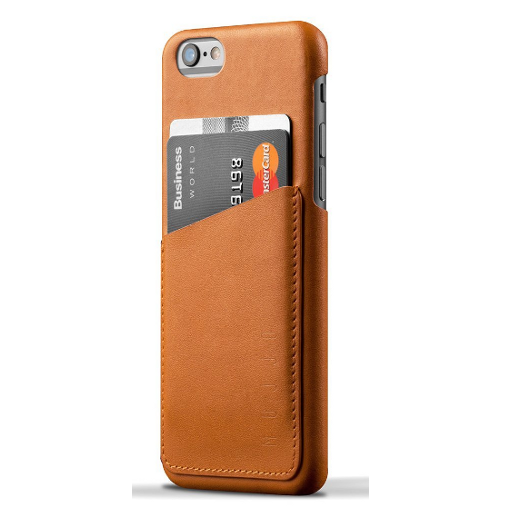Mujjo Leather Wallet Case for Iphone 6 - Tan - image