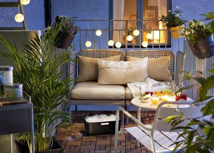 Construindo minha casa clean 14 lindas ideias de varandas pequenas com jardim - Decoracion terrazas pequenas ...