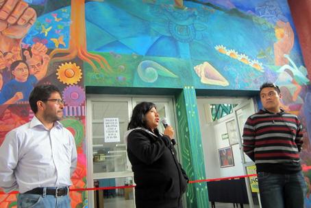 Espacios de cultura inauguran mural en la prepa 1 iztapalapa for Mural prepa 1 uaemex