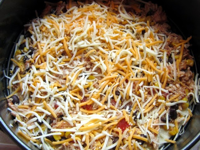 first layer Chicken Soft Taco Casserole